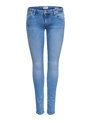 77f6cf6aee6833 Only Damen Jeans onlCORAL SL SK JEANS BB REA3269 - Skinny Fit - Blau - Light