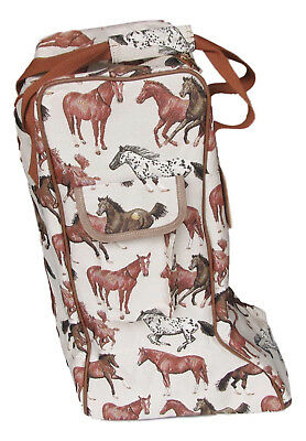 Tapestry Running Horse Riding Boot Storage Bag