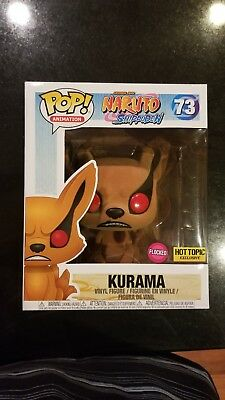Funko Pop Animation!  #73 Flocked Kurama Naruto Shippuden Hot Topic Exclusive