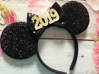 2019- New Years Eve Minnie Mouse ears headband- Disney World- Disneyland-Holiday