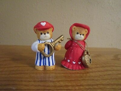 LUCY RIGG - LUCY AND ME BEARS -Keeper of the Heart pair 2-Enesco 1996