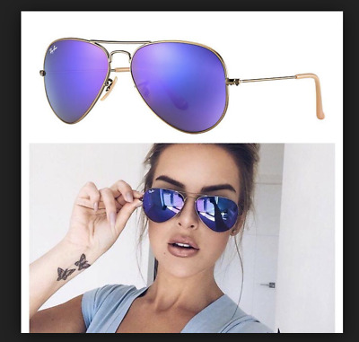43bd77bd0b9 Ray-Ban RB3025 167 1M 58 Violet Mirror  Bronze Copper Frame Sunglasses