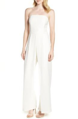 f43c124a1d33 ADELYN RAE WHITE Strapless Wide Leg Jumpsuit Size XS -  37.99