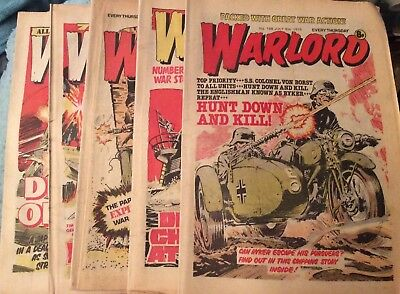 5 Vintage 'Warlord Comics' Issue # 198, 199, 200, 201, 202,(all 1978)