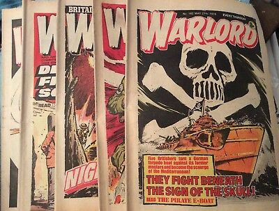 5 Vintage 'Warlord Comics' Issue # 192, 193, 194, 196, 197,(all 1978)