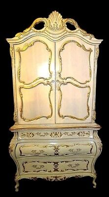 Kimball French Provincial Bombe Style Armoire Dresser Wardrobe Bedroom Furniture