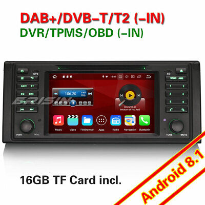 "7""DAB+Autoradio Android 8.1 GPS DVD NAVI WIFI+4G for BMW 5 Series E39 X5 E53 M5"
