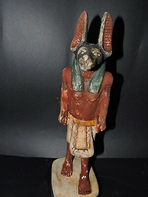 Rare Ancient Egyptian Antique Large Statue Of God ANUBIS  Egypt BC