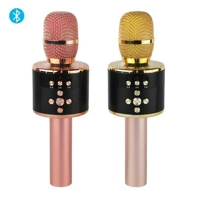 Portable Wireless BT Karaoke Mic with Multi color LED Lights 4-in-1 Handheld