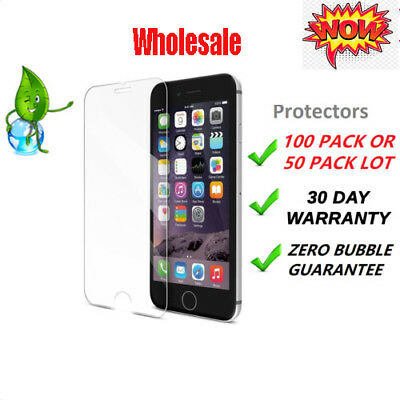 1-100X Wholesale Screen Protector Tempered Glass For iPhone XS Max XR 8 6S 7plus