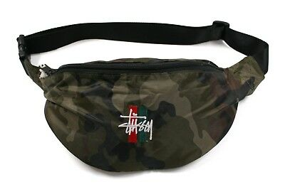 Stussy Bars Waist Bag in Camo