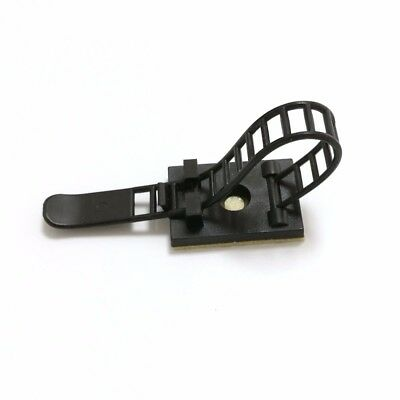 Cable Clips Self-Adhesive Cable Clamps Straps With Optional Screw Mount 10Pcs