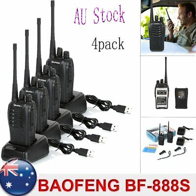 4 x BF-888S Walkie Talkie UHF 400-470MHz 5W Portable Hand-held Two-Way Radio Hot