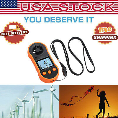 LCD Digital Handheld Anemometer Wind Speed Meter Thermomoter For Sailing Surfing