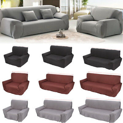 1/2/3/4 Seater Stretch Elastic Fabric Sofa Cover Couch Covers Spandex