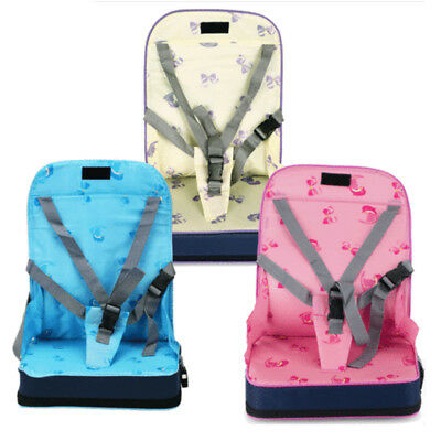 UK Portable Baby Dinning Booster Seat Travel High Chair Toddler Foldable Cushion
