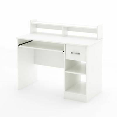 South Shore Axess Desk With Keyboard Tray White Pure White