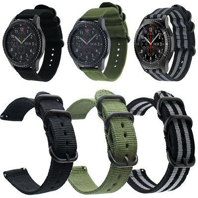 20-24mm Sports Nylon Canvas Fabric Watch Bands Strap Belts Black Buckle Hot Sale