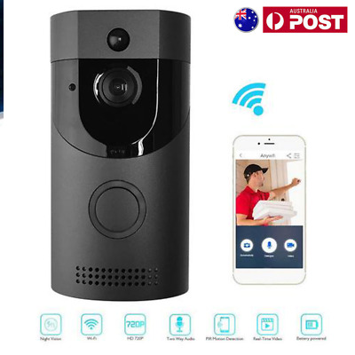 WiFi Wireless Video Doorbell Two-Way Talk  PIR Night Vision Door Bell Security