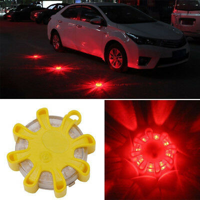 1* LED Emergency Safety Flare Red Road Flare Magnet Flashing Warning Night Light