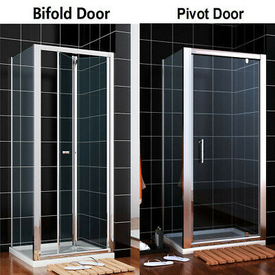 Bifold/ Framed Pivot Shower Enclosure Door Glass Screen Walk In Cubicle and Tray
