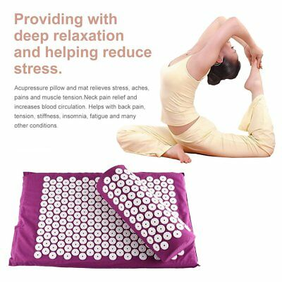 Acupressure Massage Pillow Mat Yoga Bed Pilates Needle Pressure Shakti Neck MT