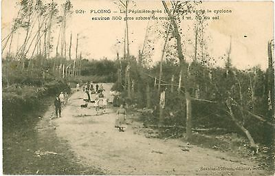 FLOING Ardennes FRANCE After the CYCLONE Destruction Vintage PC 1906
