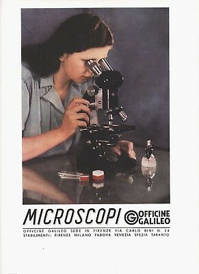 Pubblicita 1942 Officine Galileo Firenze Microscopio Precisione Laboratorio Sedi