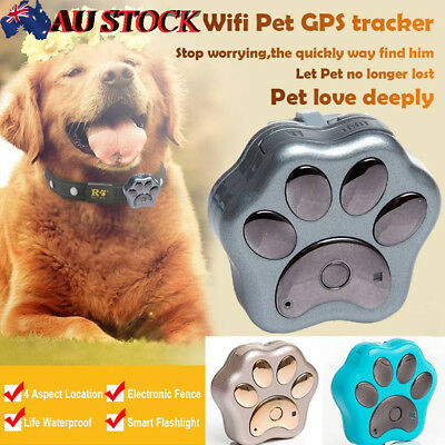 AU Pet Dog Cat Global RFV30 GPS Tracker Collar Finder Anti-lost Waterproof