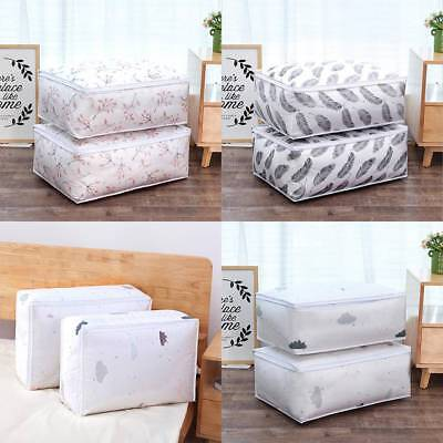 Washable Suitcase Bags Storage Organizer Bag for Clothes Quilt Blanket Pillows