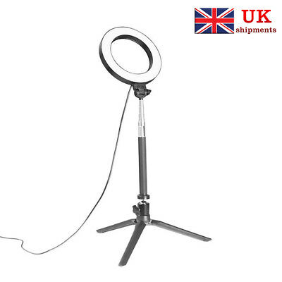 """8"""" LED Light Ring with Stand Lighting Kit camera light for Youtube Live Makeup"""