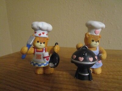 LUCY RIGG - LUCY AND ME BEARS -Chef Bears (2)-Enesco-