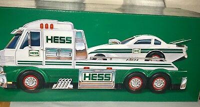 Hess 2016 Electronic Green Toy Truck And Dragster New