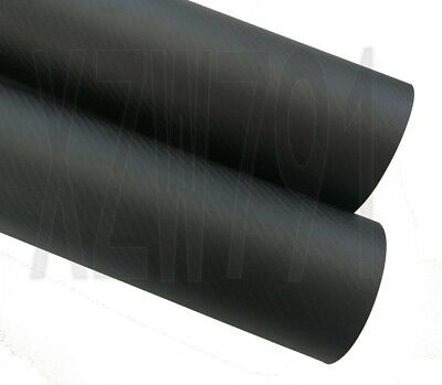 80MM OD x 76MM ID Carbon Fiber Tube 3k 500MM Long(Roll Wrapped)carbon pipe 80*76
