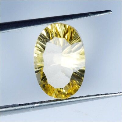 2.9 Ct Natural Citrine Oval Shape Concave Cut Loose Gemstone HJ_31_46