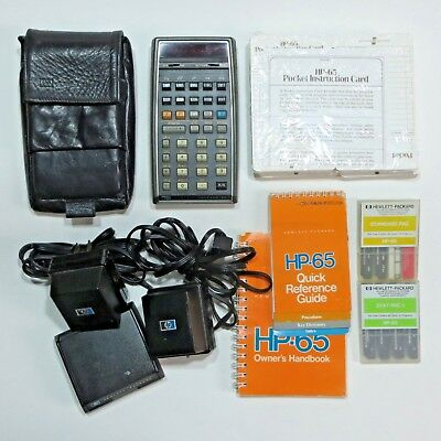 Vtg Hewlett Packard HP 65 Programmable Calculator Lot with Accessories As Is