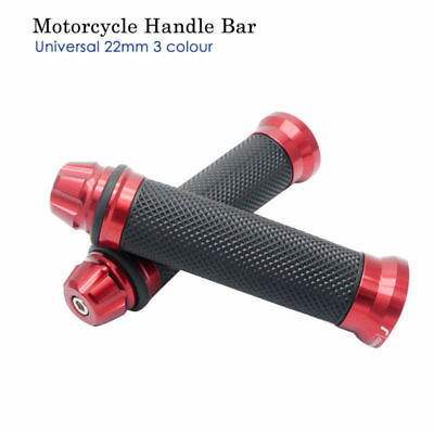 Paar rote GRIPS HAND GRIP 22mm 25mm Kaliber MOTORCYCLE ROLLER QUAD HAND GRIPS