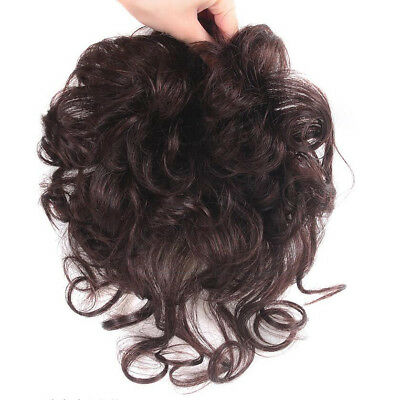 Virgin human hair Natural Curly Hairpiece Toupee Wavy topper women Clip in