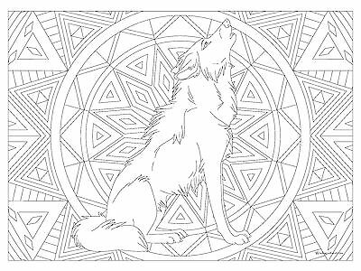 "Giant Coloring Poster - Wolf (32"" x 24"")"