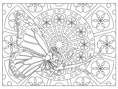 "Giant Coloring Poster - Fairy (32"" x 24"")"