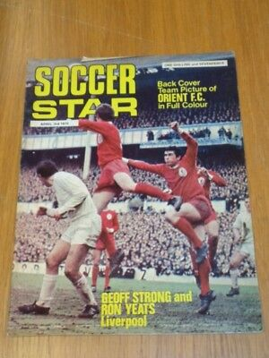 Soccer Star 3Rd April 1970 Ron Yeats Geoff Strong Uk Magazine =