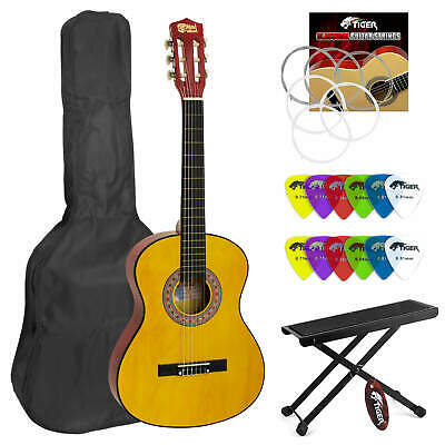 Classical Spanish  Guitar for Students - 3/4 Size - Footstool &