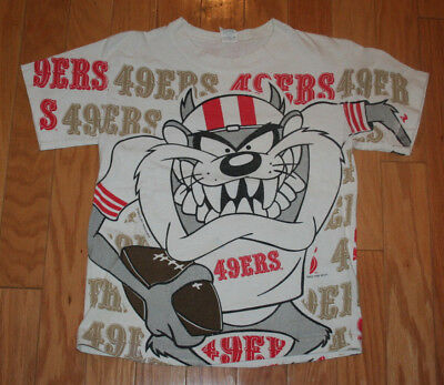 Vintage Boys Big Tazmanian Devil San Francisco SF 49ers T-Shirt
