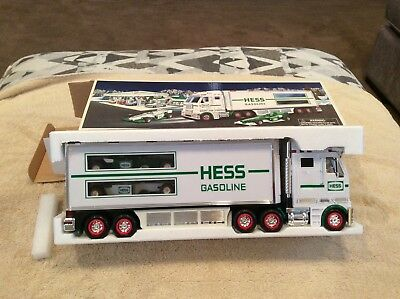 Hess 2003 Truck and Dual Race Cars. MIB Never Played