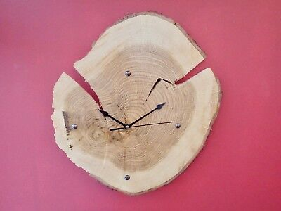 Unique Wooden British Oak Wall Clock Hand Made Gift