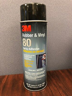 3M 80 RUBBER and Vinyl Spray Adhesive, 24 Oz High Strength