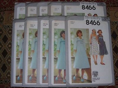 UNCIRCULATED 1978 SIMPLICITY #8569 LADIES SQUARE NECKLINE DRESS PATTERN 8-12FF