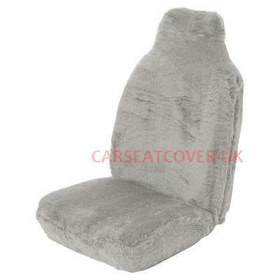 Dodge Nitro (2007-10) Grey Sheepskin Faux Fur Car Seat Covers - 2 x Fronts