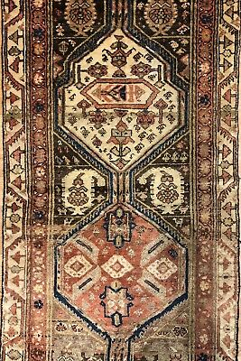 Magnificent Malayer - 1940s Antique Persian Runner - Tribal Rug - 3.2 x 10.10 ft