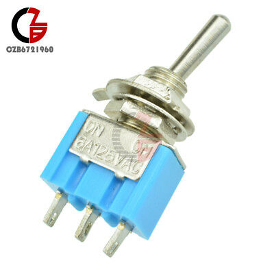 2PCS Mini 6A 125V AC SPDT MTS-102 3Pin 2 Position On-on Toggle Switch Practi